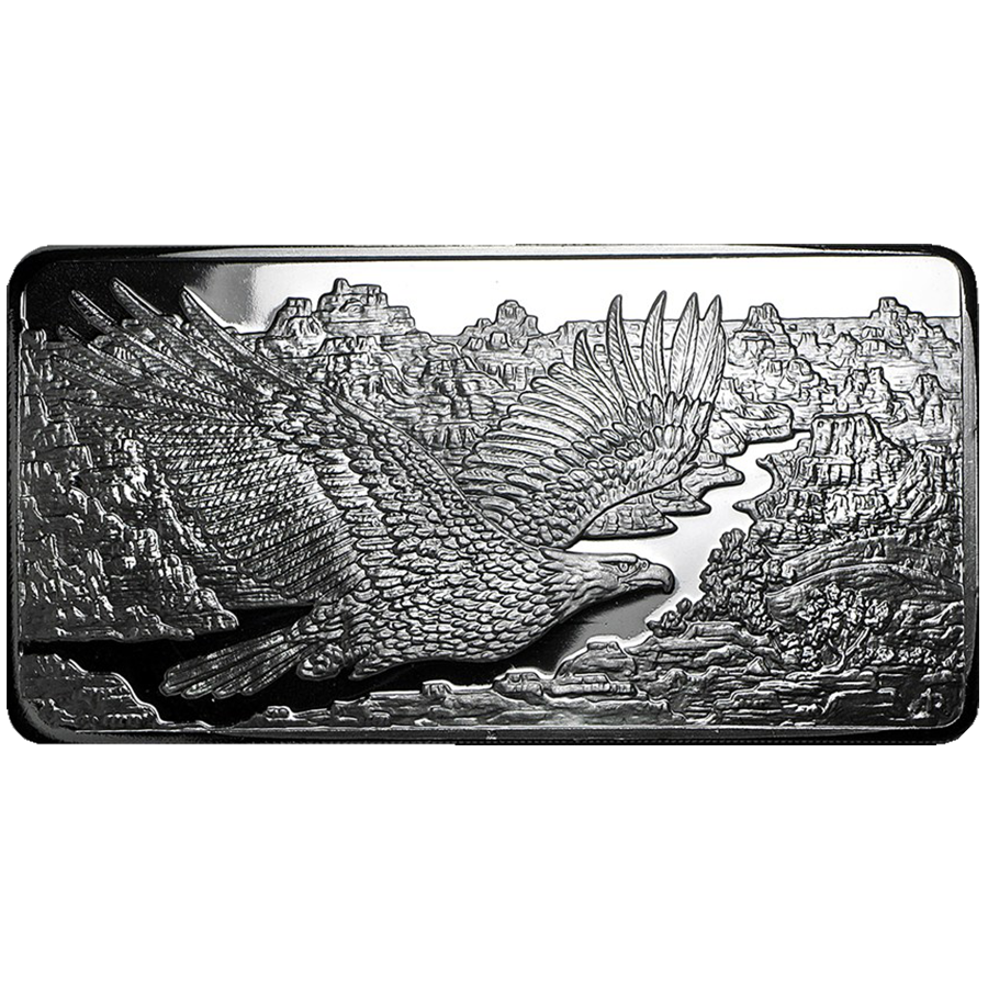 RMC 10oz Eagle Stamped Silver Bar