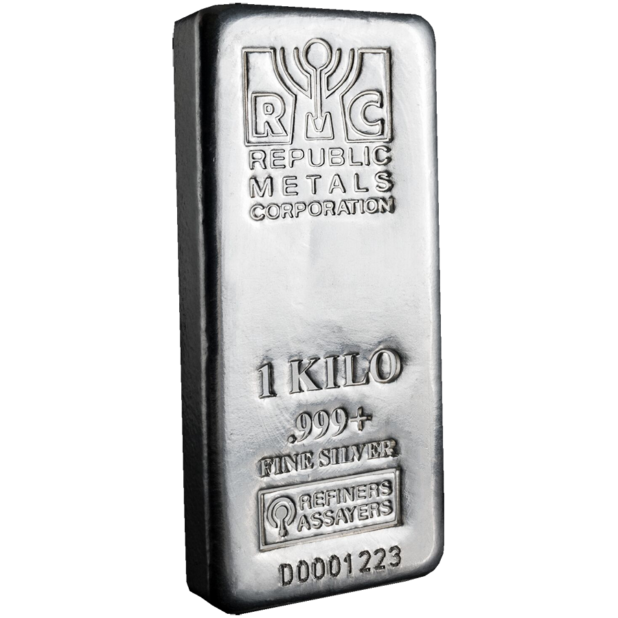 RMC 1kg Cast Silver Bar (Image 1)