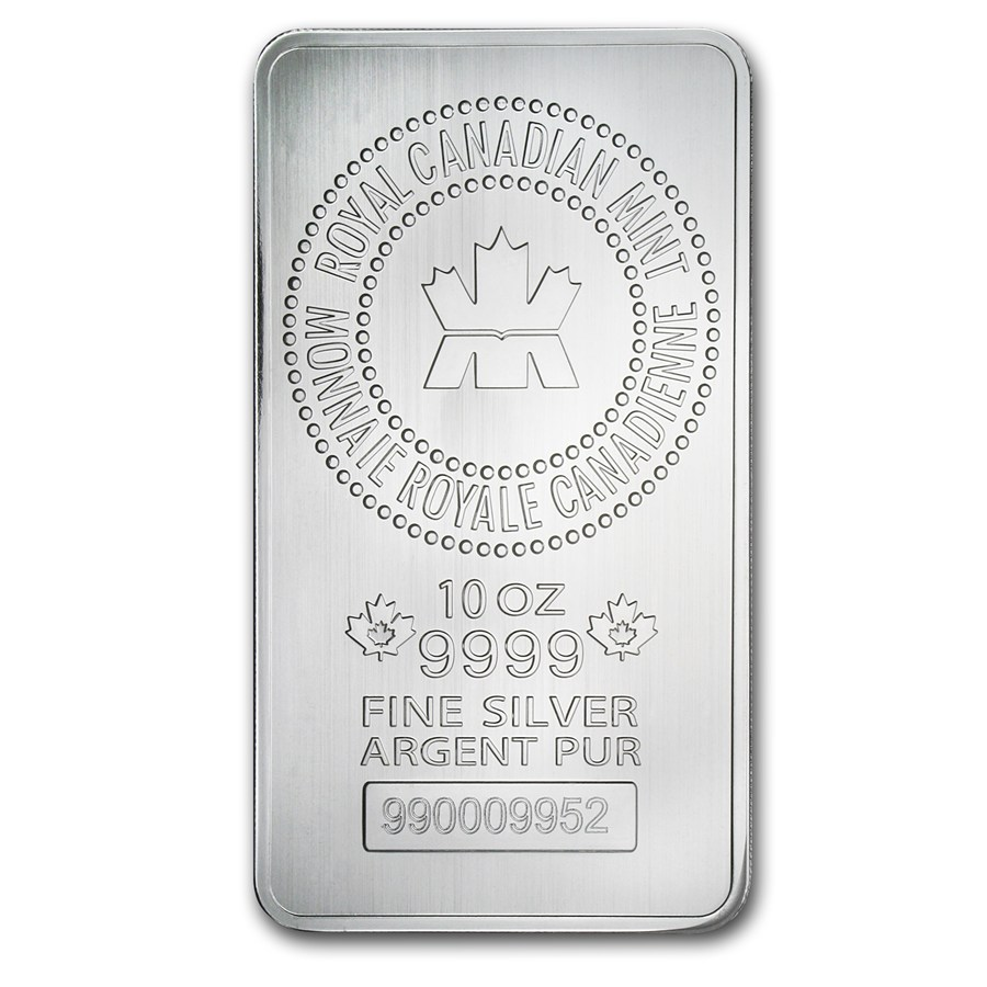 Free Uk Delivery Canadian Mint 10oz Silver Bar