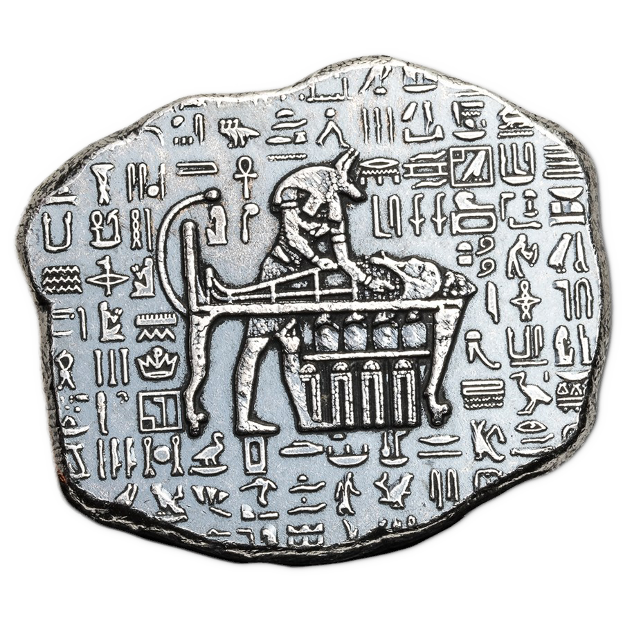 Anubis Relic 1oz Hand-Poured Silver Bar