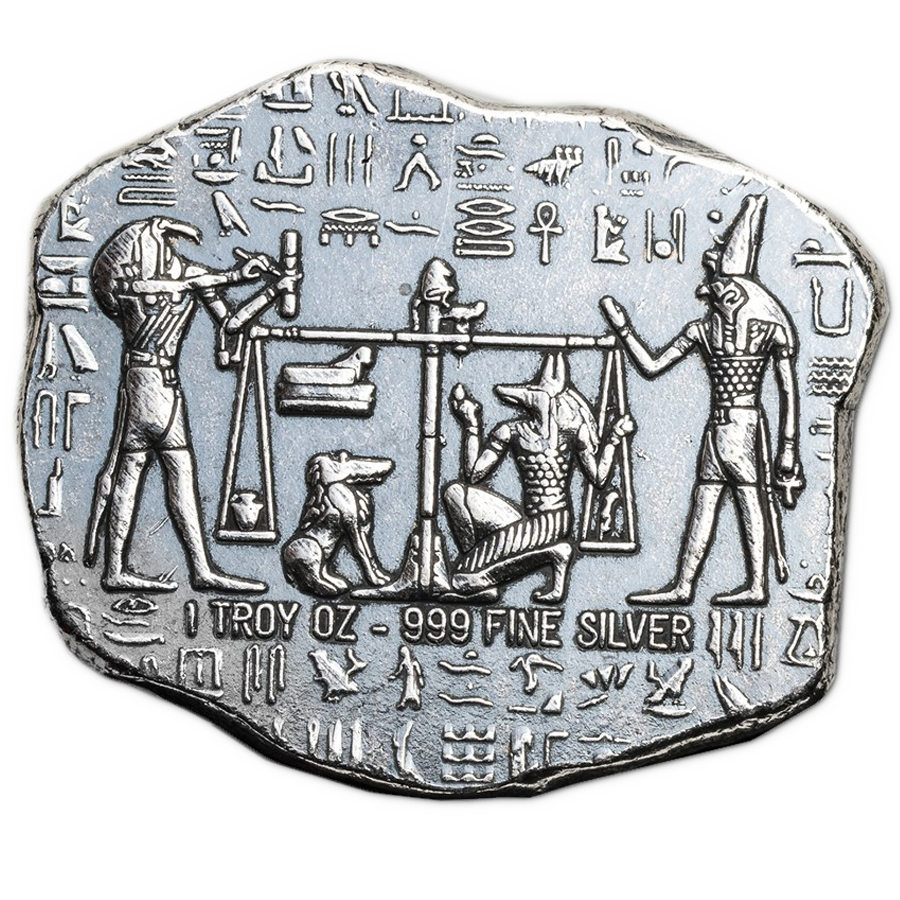 Anubis Relic 1oz Hand-Poured Silver Bar (Image 2)