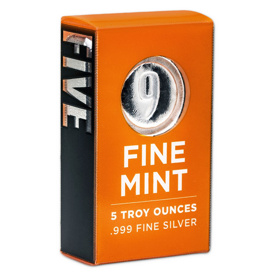 9Fine Mint 5oz Silver Bar