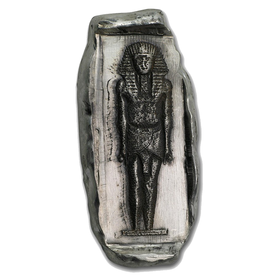 Egyptian Tomb King Tut Relic 2oz Hand-Poured Silver Bar