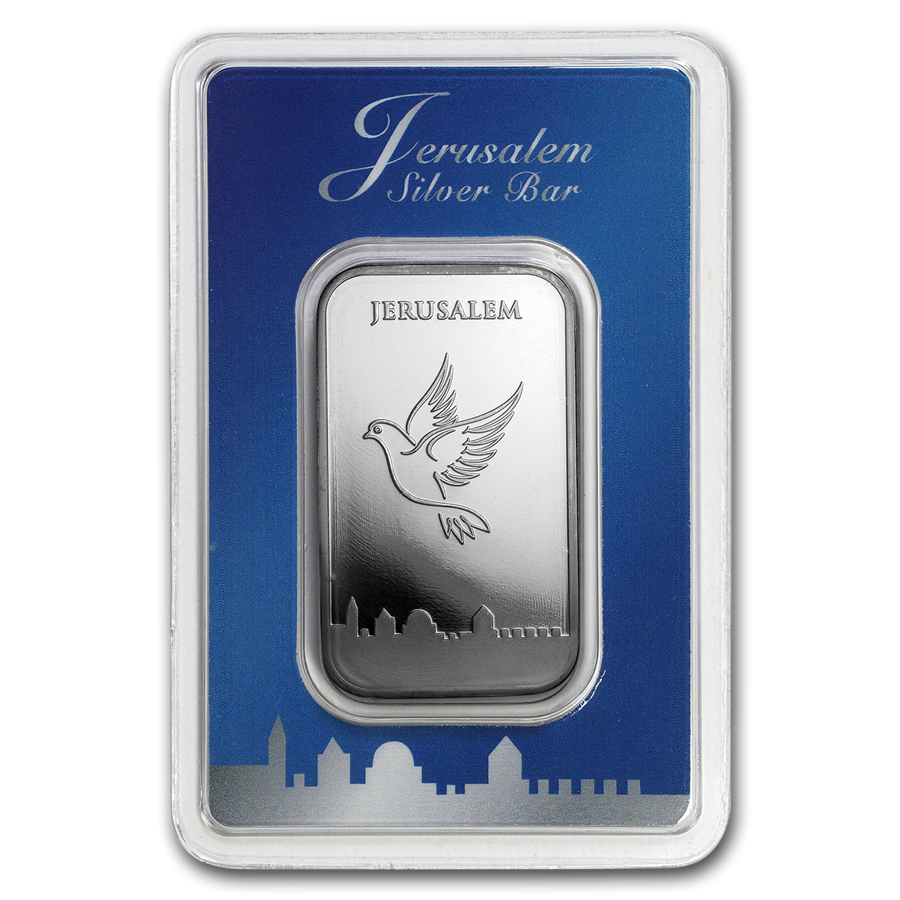 Holy Land Mint Dove of Peace 1oz Silver Bar