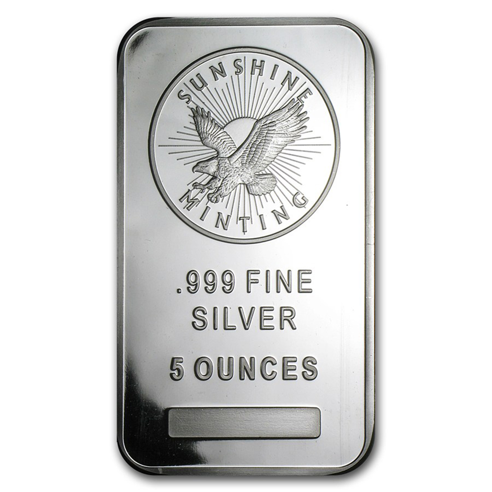 Sunshine Mint 5oz Silver Bar