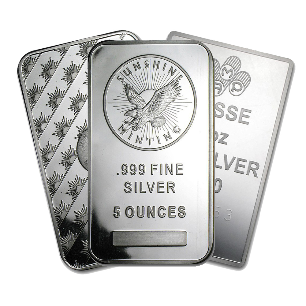 Pre-Owned 5oz Silver Bar
