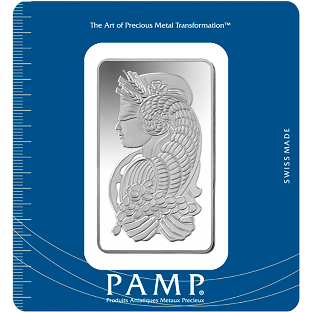 Pre-Owned PAMP Suisse Fortuna 100g Silver Bar - Certificated