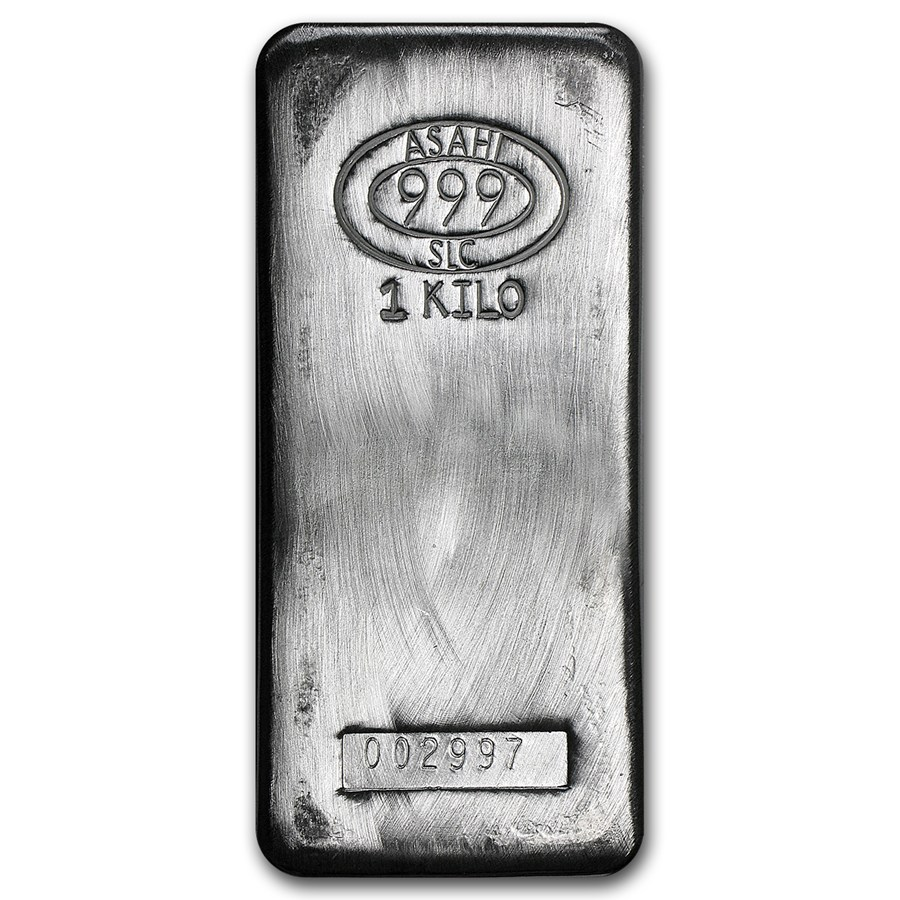 Buy 1kg Silver Bars With Free Insured Delivery Asahi 1kg