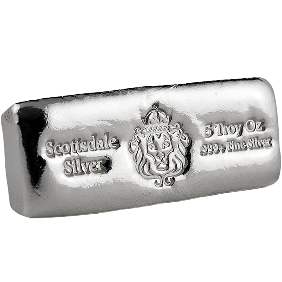 Scottsdale Mint 5oz Cast Silver Bar