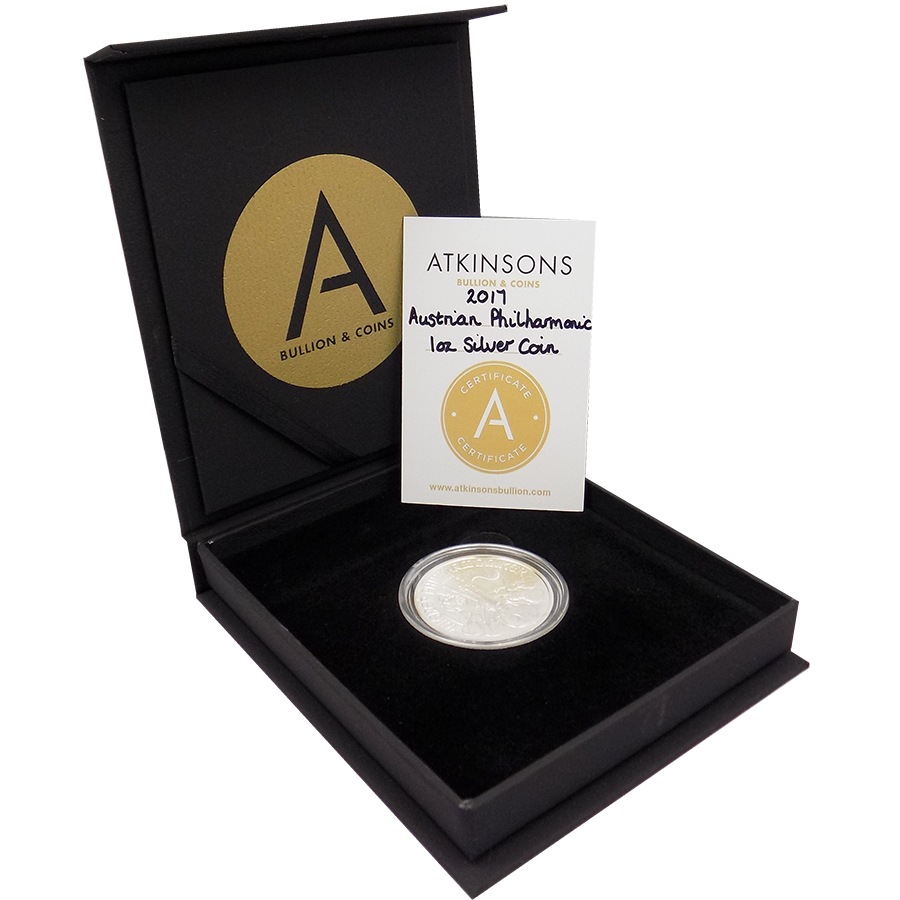 2017 Austrian Philharmonic 1oz Silver Coin with Gift Box & Certificate