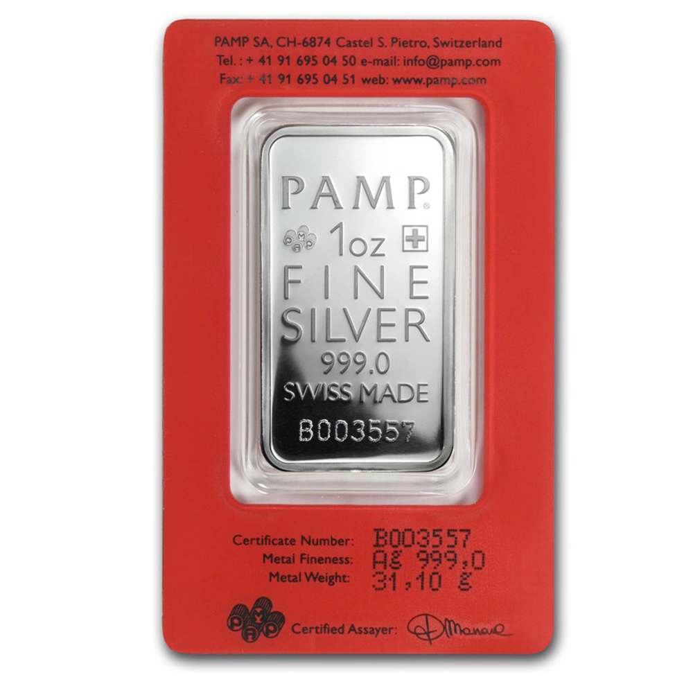 PAMP Suisse True Happiness 1oz Silver Bar with Gift Box & Certificate (Image 3)
