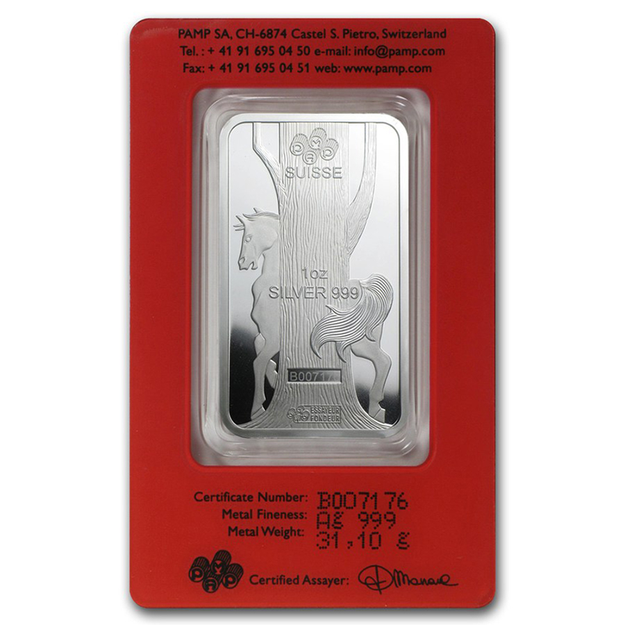 PAMP 2014 Lunar Horse 1oz Silver Bar with Gift Box & Certificate (Image 3)