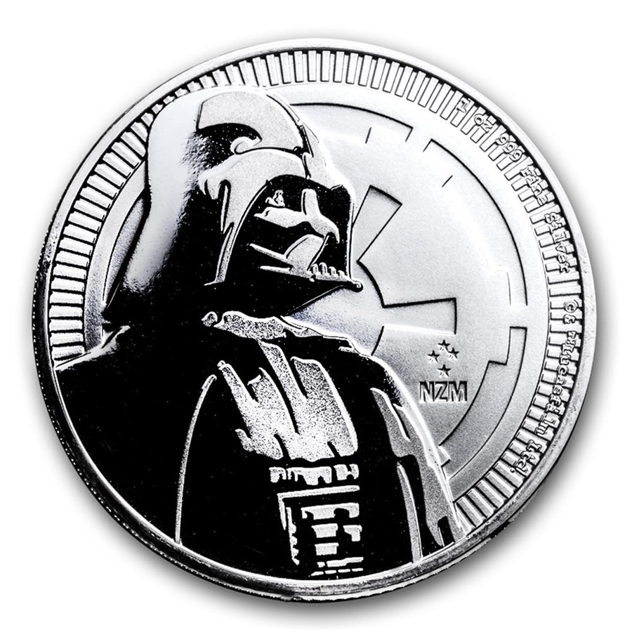 2017 Niue Star Wars Darth Vader 1oz Silver Coin with Gift Box & Certificate (Image 3)