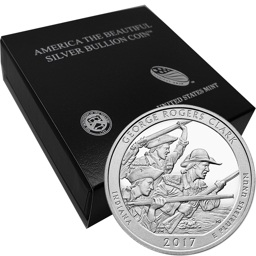 2017 ATB George Rogers Clark 5oz Silver Coin with Gift Box