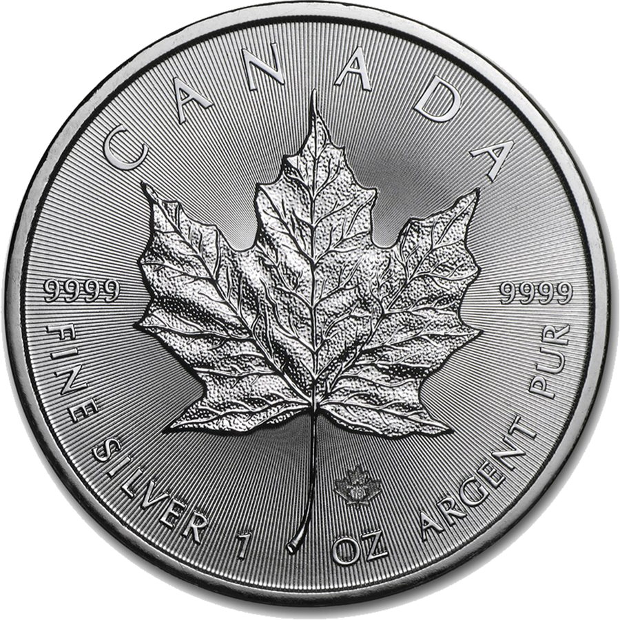 2018 Canadian Maple 1oz Silver Coins in Tube - (25 Coins) (Image 2)