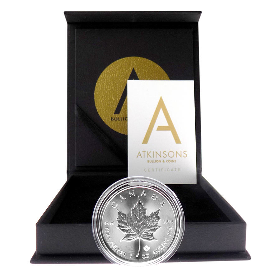 2018 Canadian Maple 1oz Silver Coin with Gift Box & Certificate (Image 2)