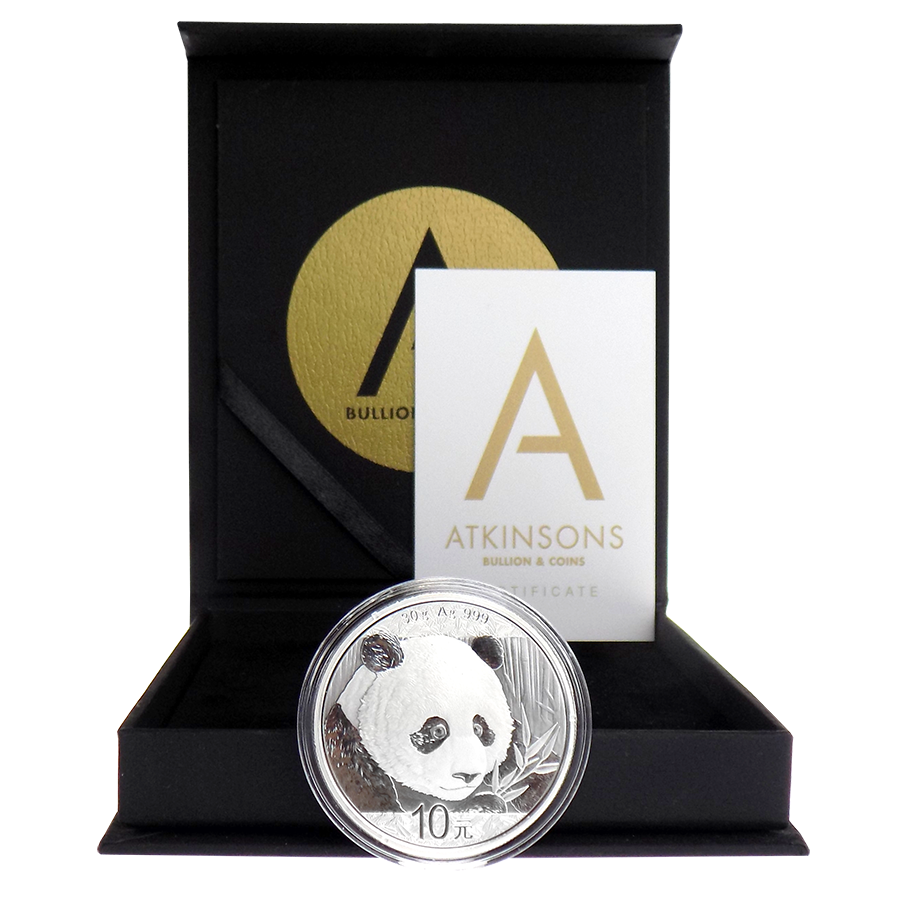 2018 Chinese Panda 30g Silver Coin with Gift Box & Certificate (Image 2)
