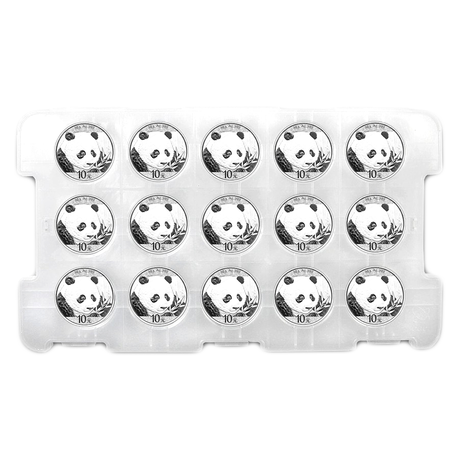2018 Chinese Panda 30g Silver Coin Bundle - 15 Coins (Image 1)