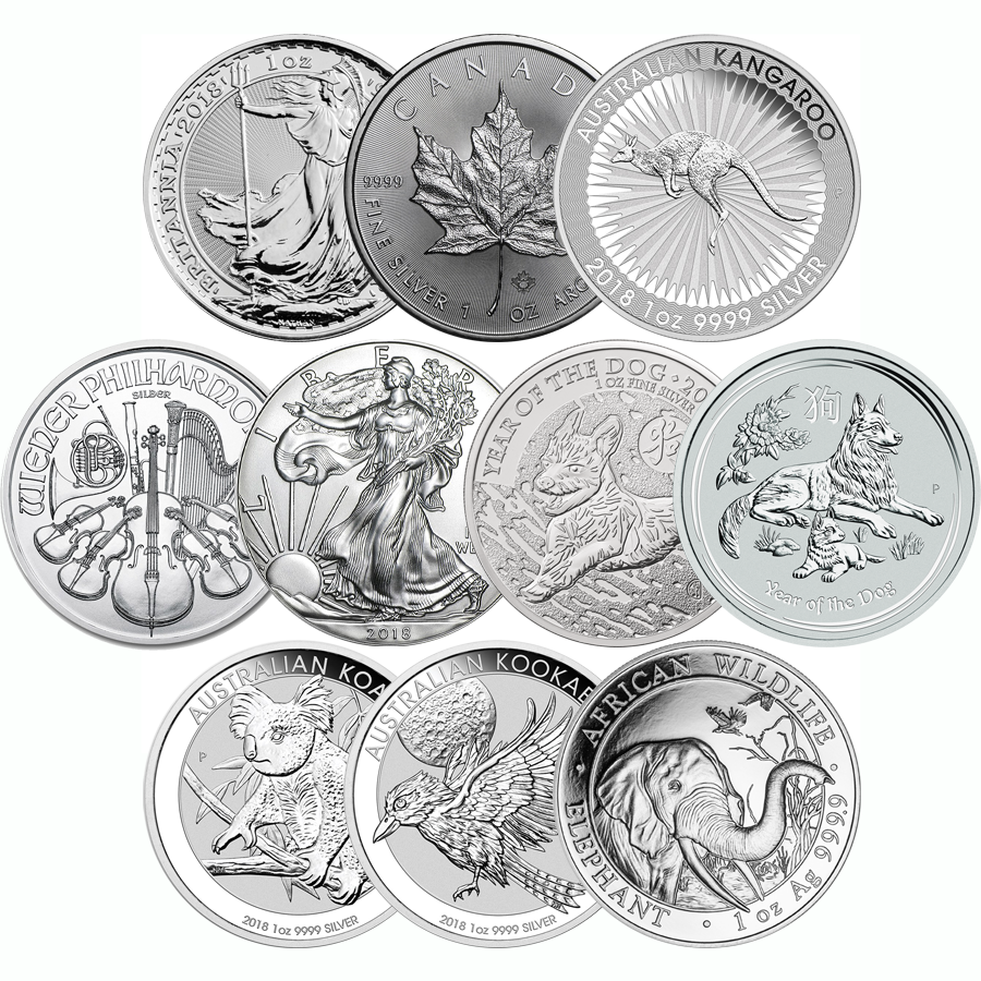 2018 Most Popular 1oz Silver Coins Free Delivery