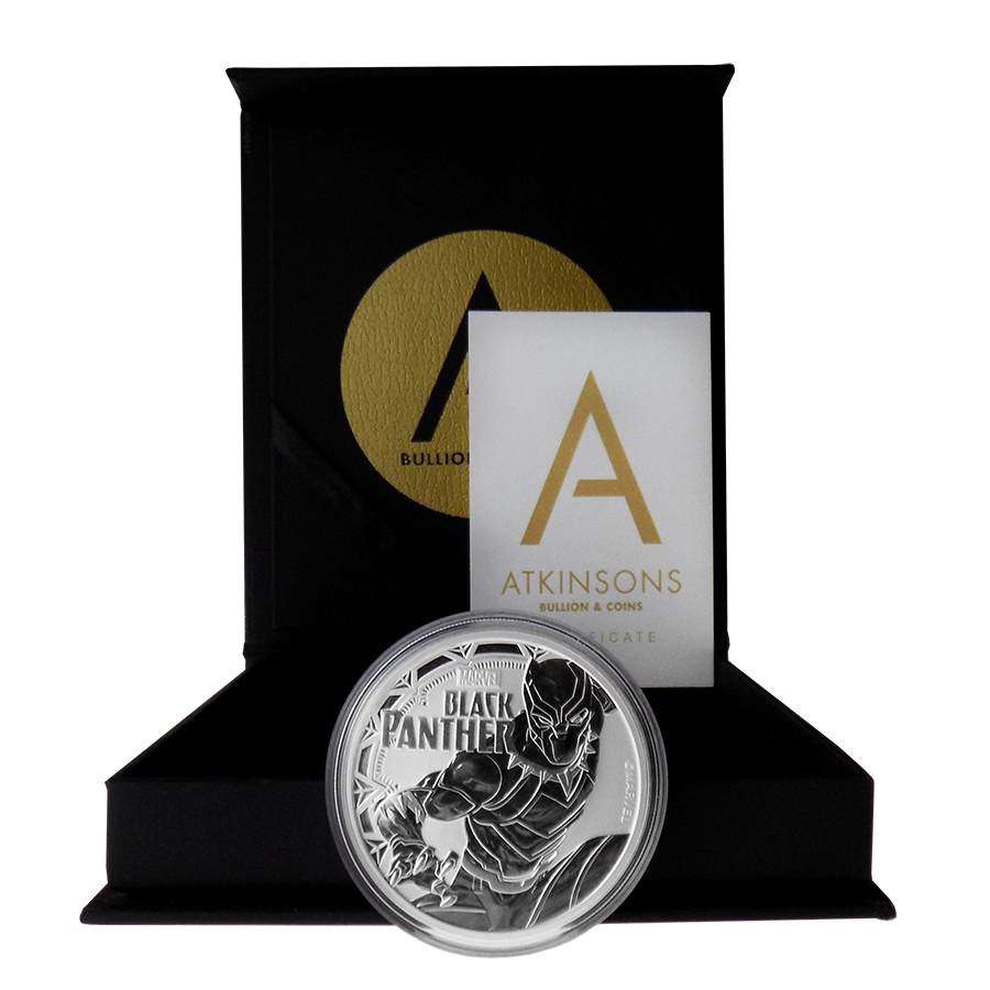 2018 Tuvalu Marvel Series - Black Panther 1oz Silver Coin with Gift Box & Certificate (Image 2)