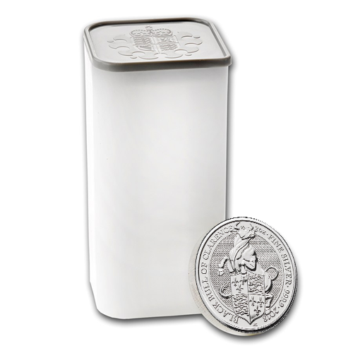 2018 UK Queen's Beasts The Black Bull of Clarence 2oz Silver Coin - Monster Box of 200 Coins (Image 2)