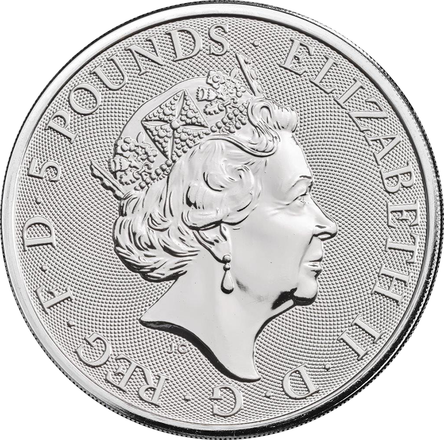 2018 UK Queen's Beasts The Black Bull of Clarence 2oz Silver Coin - Monster Box of 200 Coins (Image 4)