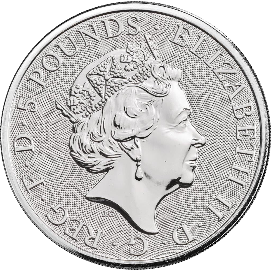 2018 UK Queen's Beasts The Black Bull of Clarence 2oz Silver Coin - Full Tube of 10 Coins (Image 3)