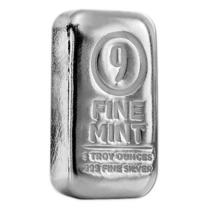 9fine Mint 5oz Silver 10 Bar Bundle With Box Atkinsons