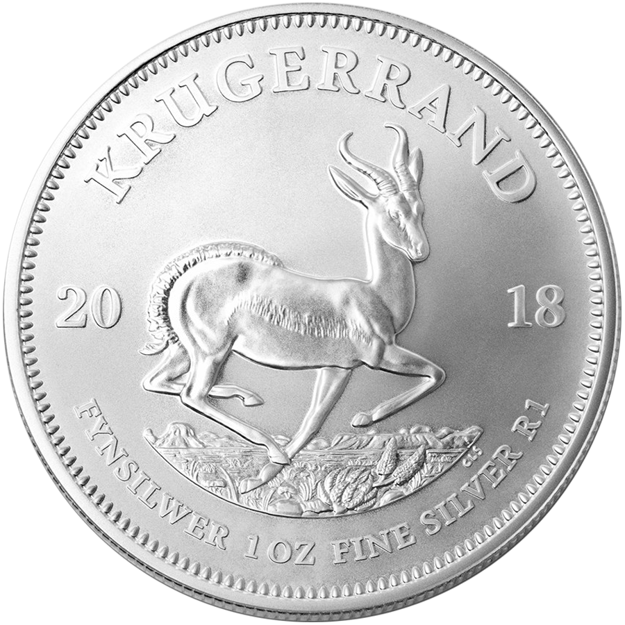 2018 South African Krugerrand 1oz Silver Coin with Gift Box & Certificate (Image 2)