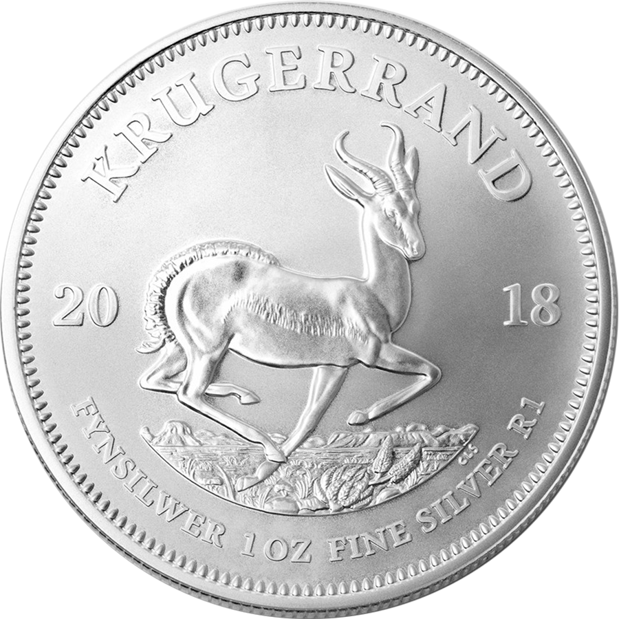 2018 South African Krugerrand 1oz Silver Coins in Tube - (25 Coins) (Image 2)