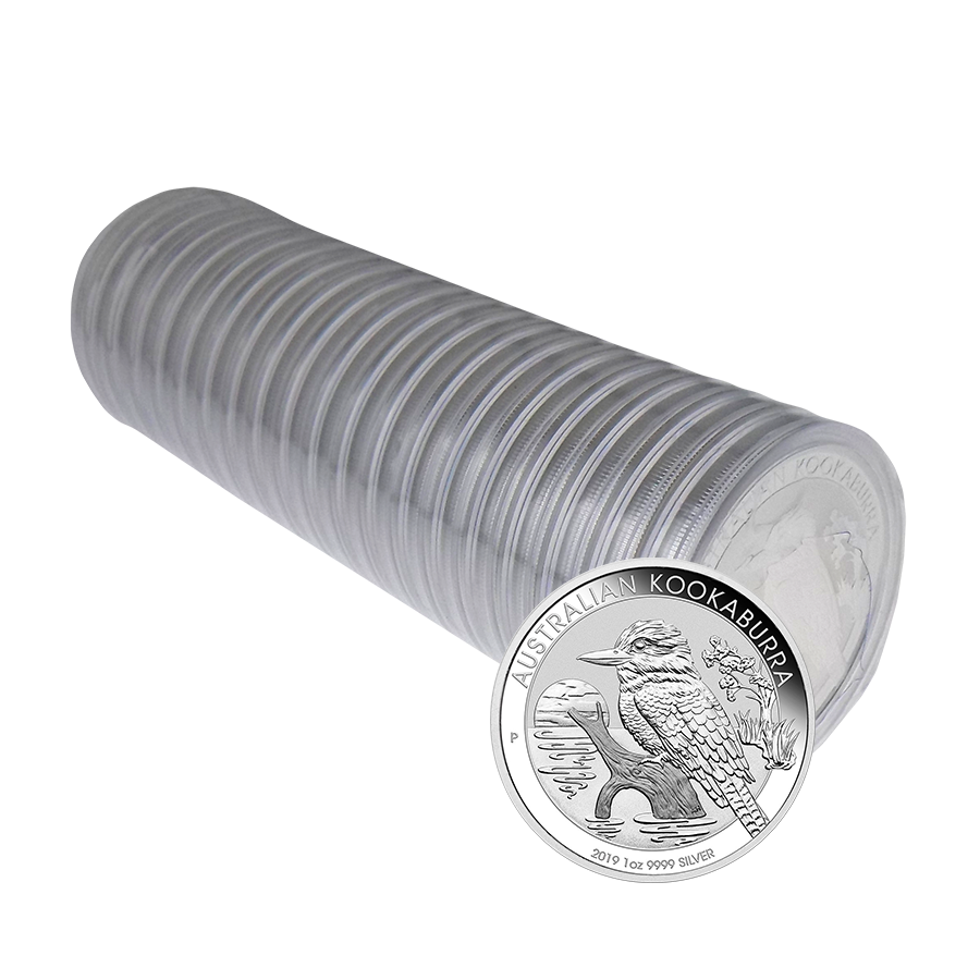 2019 Australian Kookaburra 1oz Silver Coin - Full Roll of 20 Coins