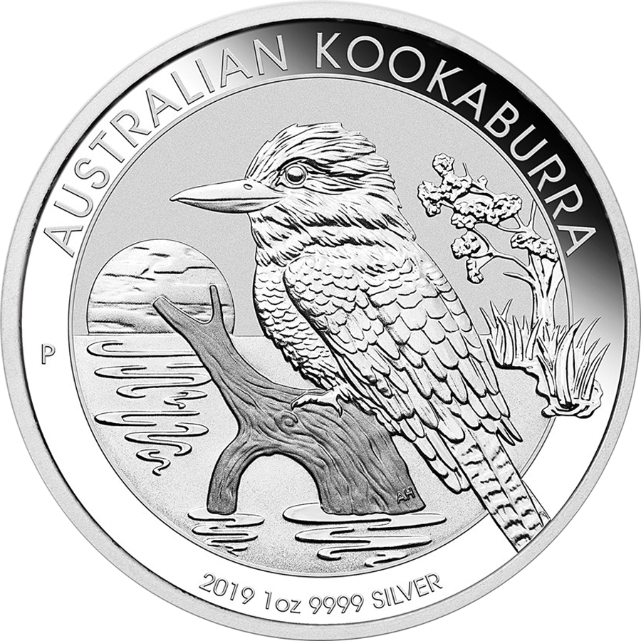2019 Australian Kookaburra 1oz Silver Coin - Full Roll of 20 Coins (Image 2)