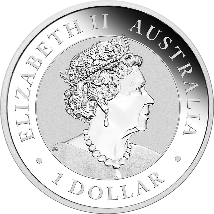 2019 Australian Kookaburra 1oz Silver Coin - Full Roll of 20 Coins (Image 3)