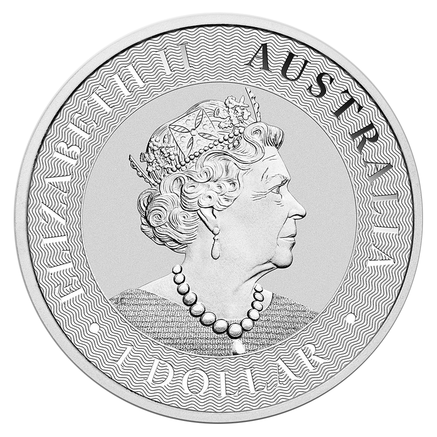 2019 Australian Kangaroo 1oz Silver Coin - Full Tube of 25 Coins (Image 3)