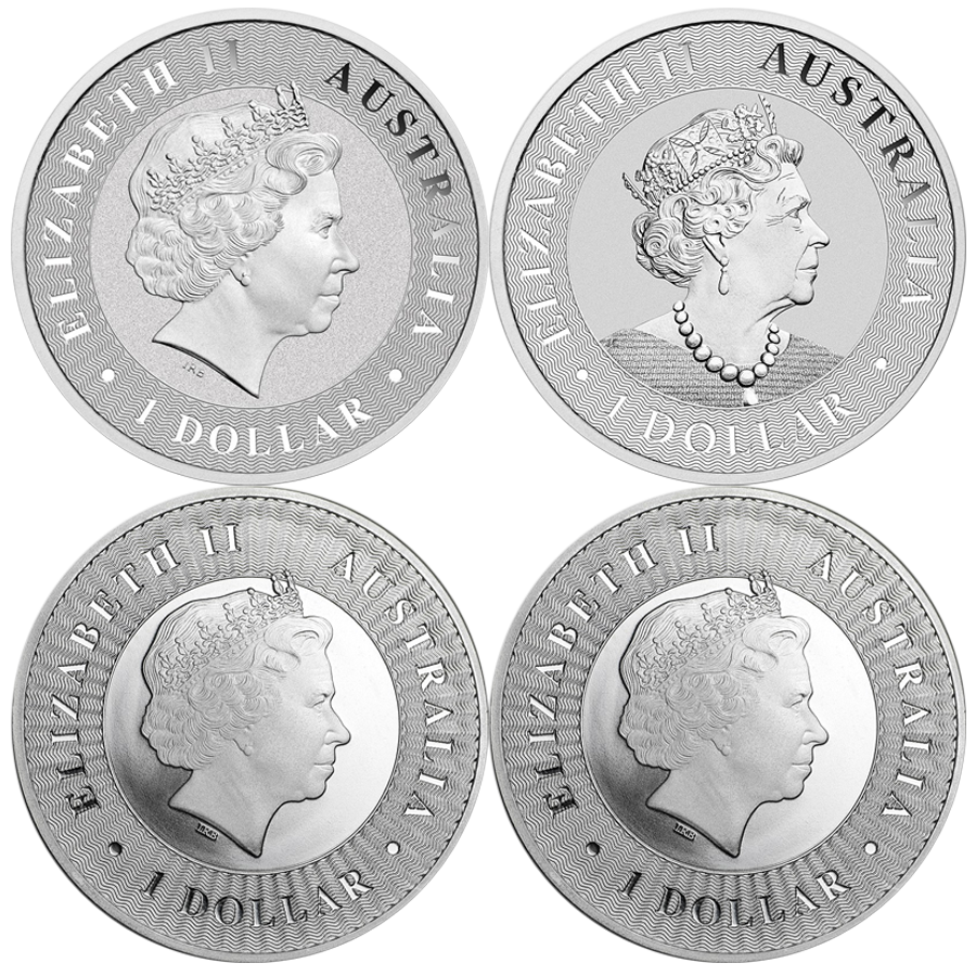 2016 - 2019 Australian Kangaroo 1oz Silver Coin Collection (Image 2)