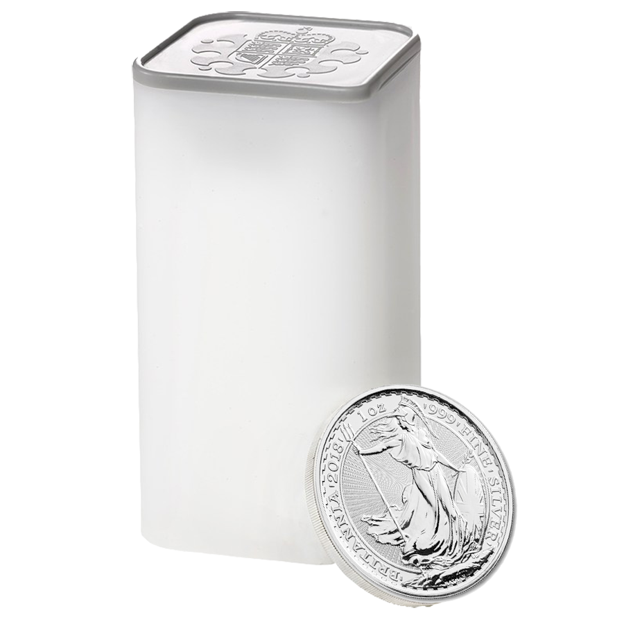 2019 UK Britannia 1oz Silver Coin - Mini Box of 100 Coins (Image 2)