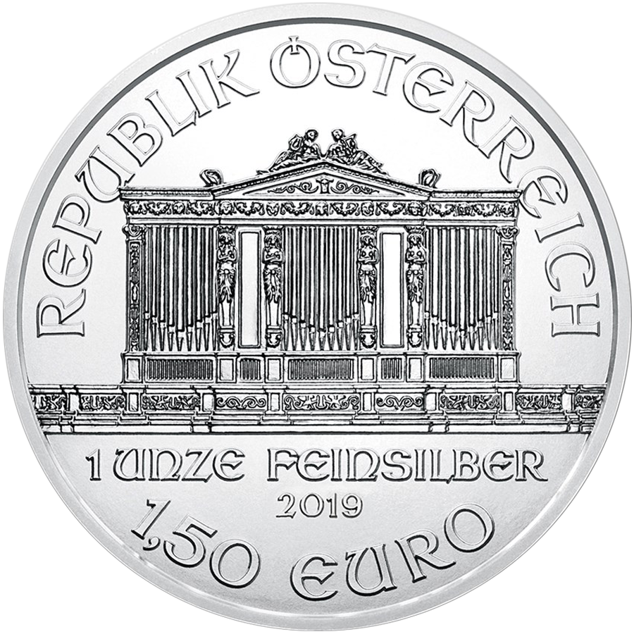 2019 Austrian Philharmonic 1oz Silver Coin - Full Tube of 20 Coins (Image 3)
