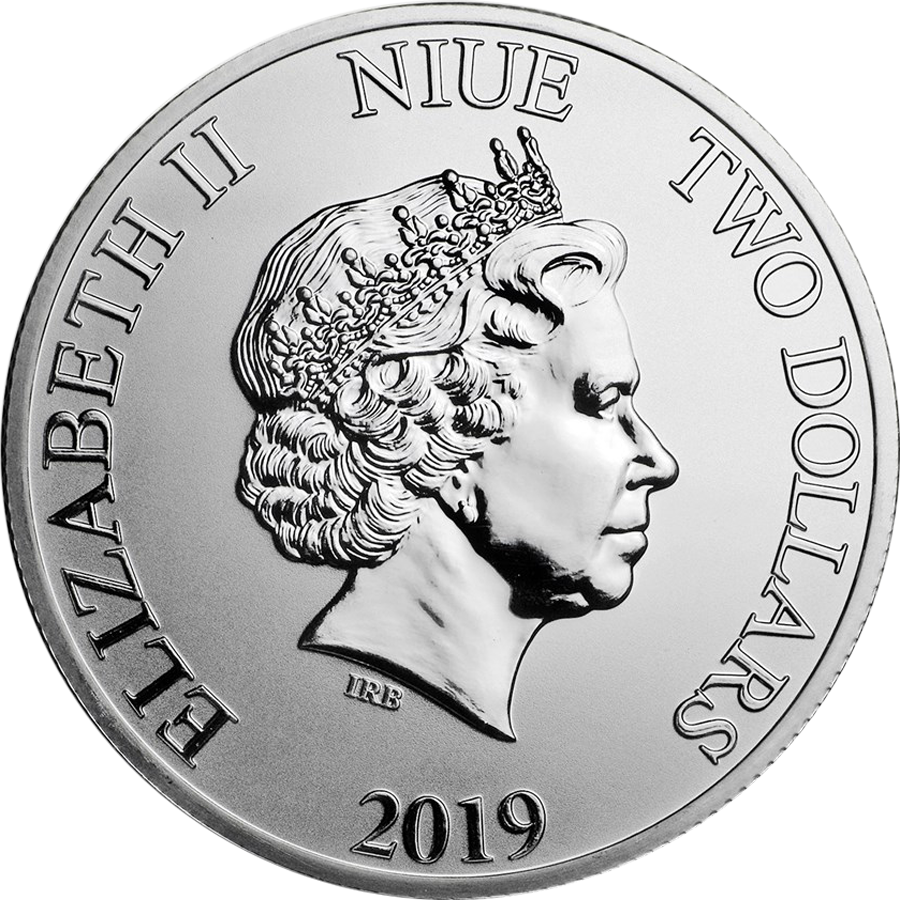 2019 Niue Hawksbill Turtle 1oz Silver Coin - Full Tube of 25 Coins (Image 3)