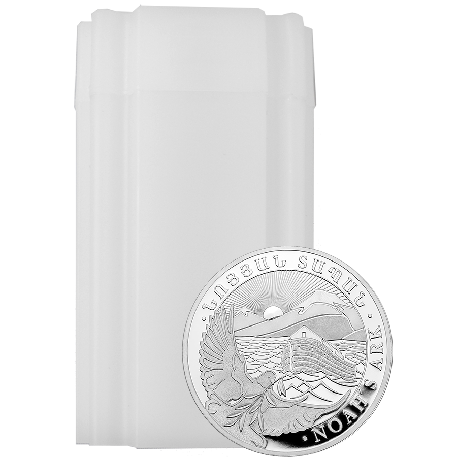 2019 Armenian Noah's Ark 1oz Silver Coin - Full Tube of 20 Coins (Image 1)