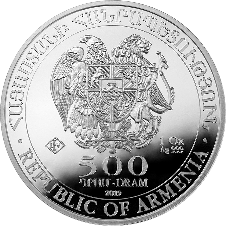 2019 Armenian Noah's Ark 1oz Silver Coin - Full Tube of 20 Coins (Image 3)