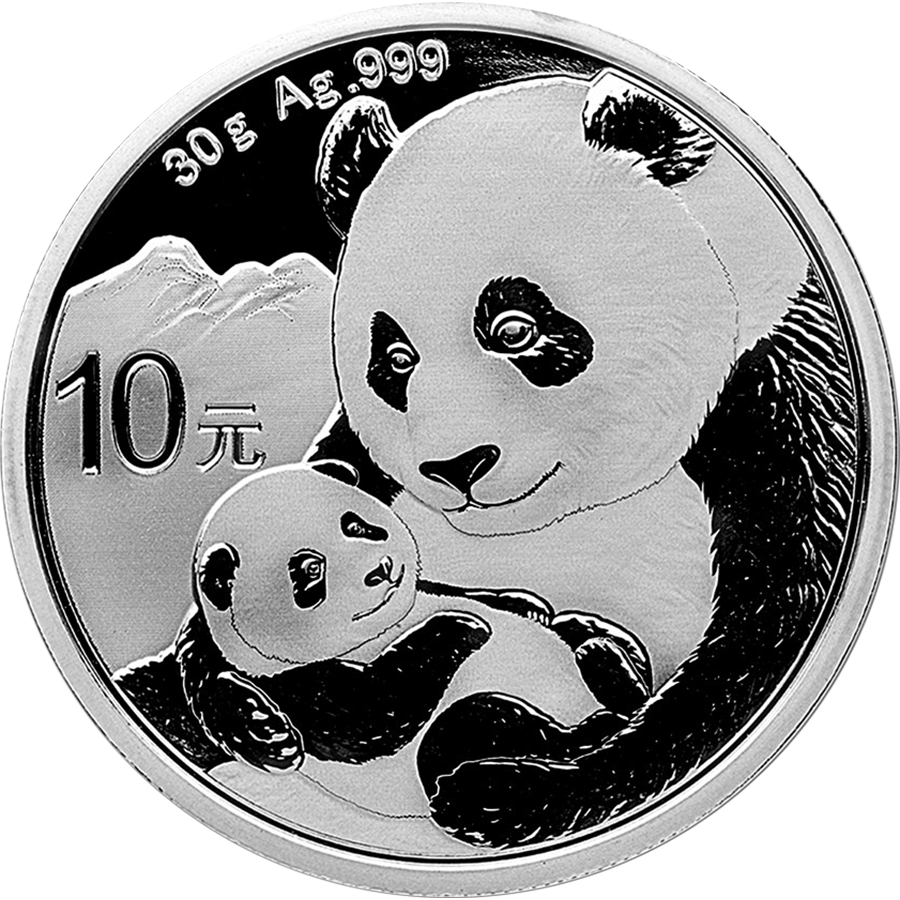 2019 Chinese Panda 30g Silver Coin - Tray of 15 Coins (Image 2)