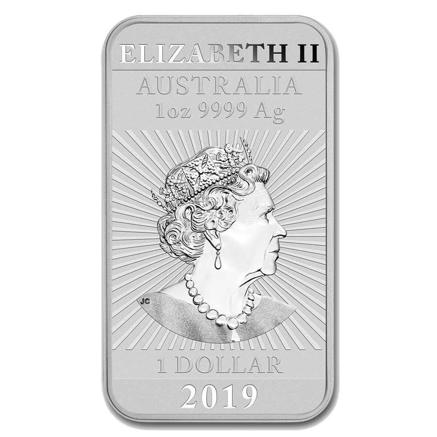 2019 Australian Dragon Rectangular 1oz Silver Coin - Full Tube of 20 Coins (Image 3)