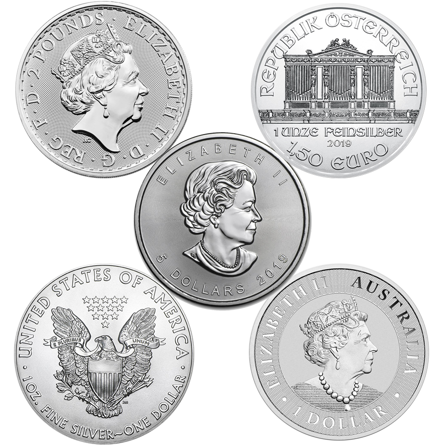 2019 Most Popular 1oz Silver Coin Collection - 5 Coins (Image 2)