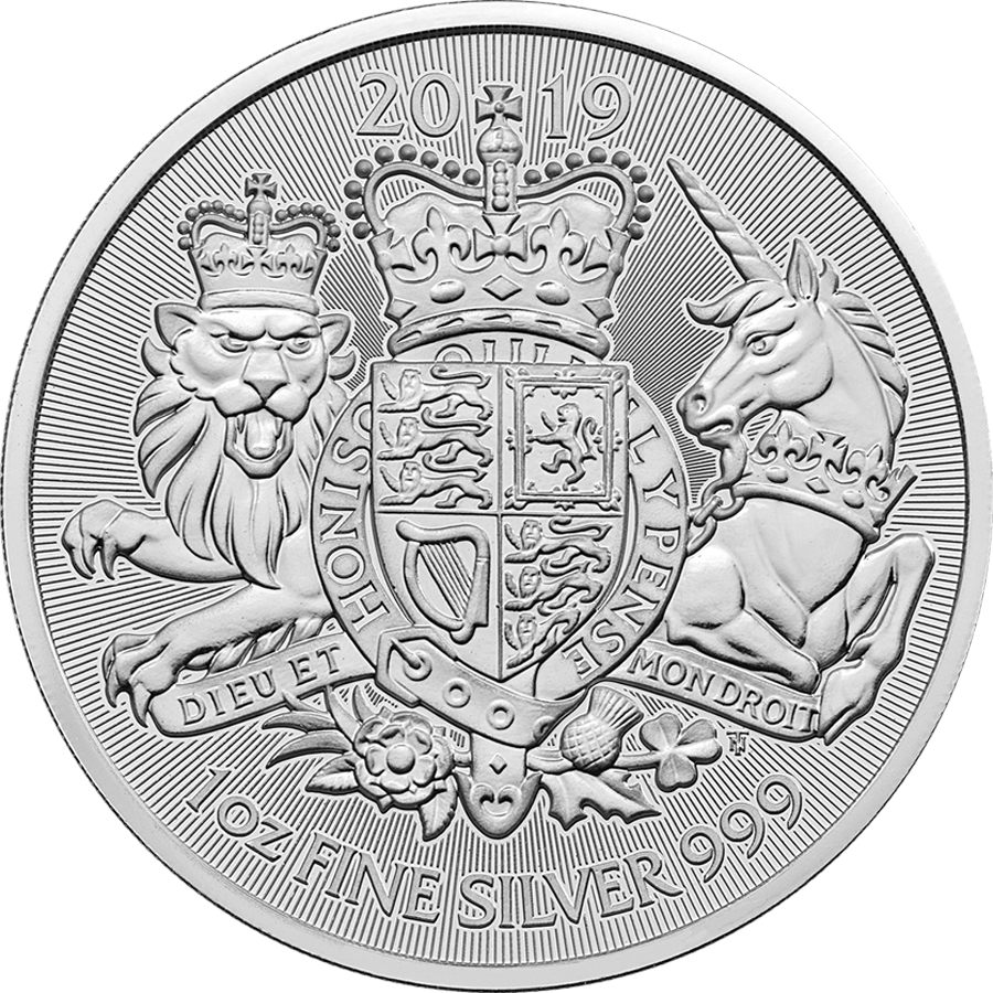2019 UK Coat of Arms 1oz Silver Coin with Gift Box & Certificate (Image 2)