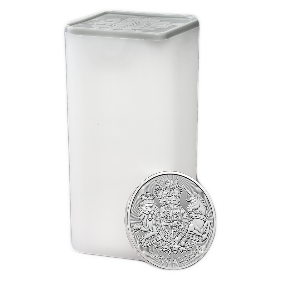 2019 UK Coat of Arms 1oz Silver Coin - Full Tube of 25 Coins