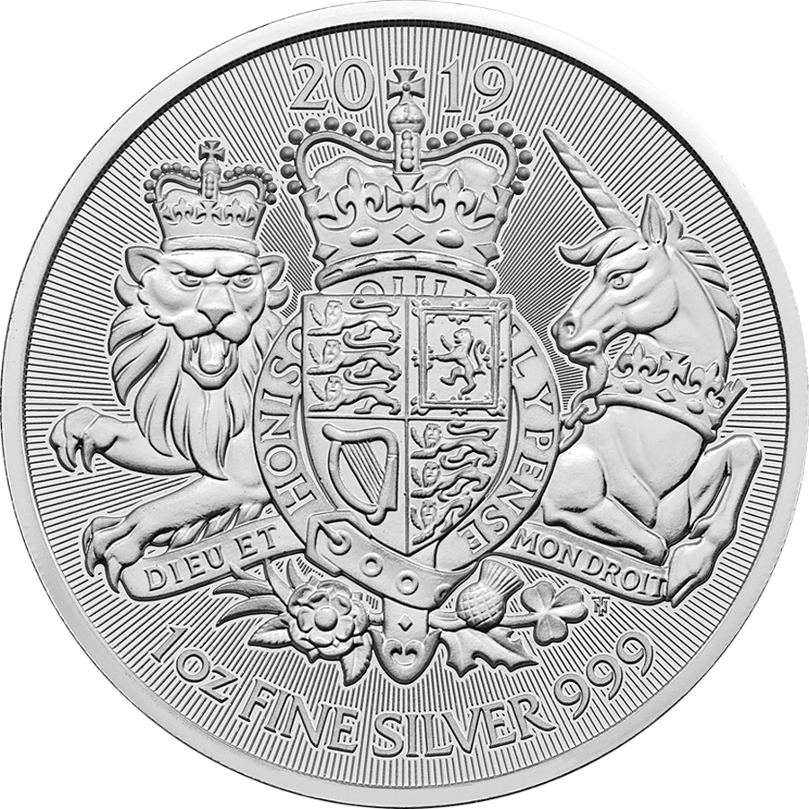 2019 UK Coat of Arms 1oz Silver Coin - Full Tube of 25 Coins (Image 2)