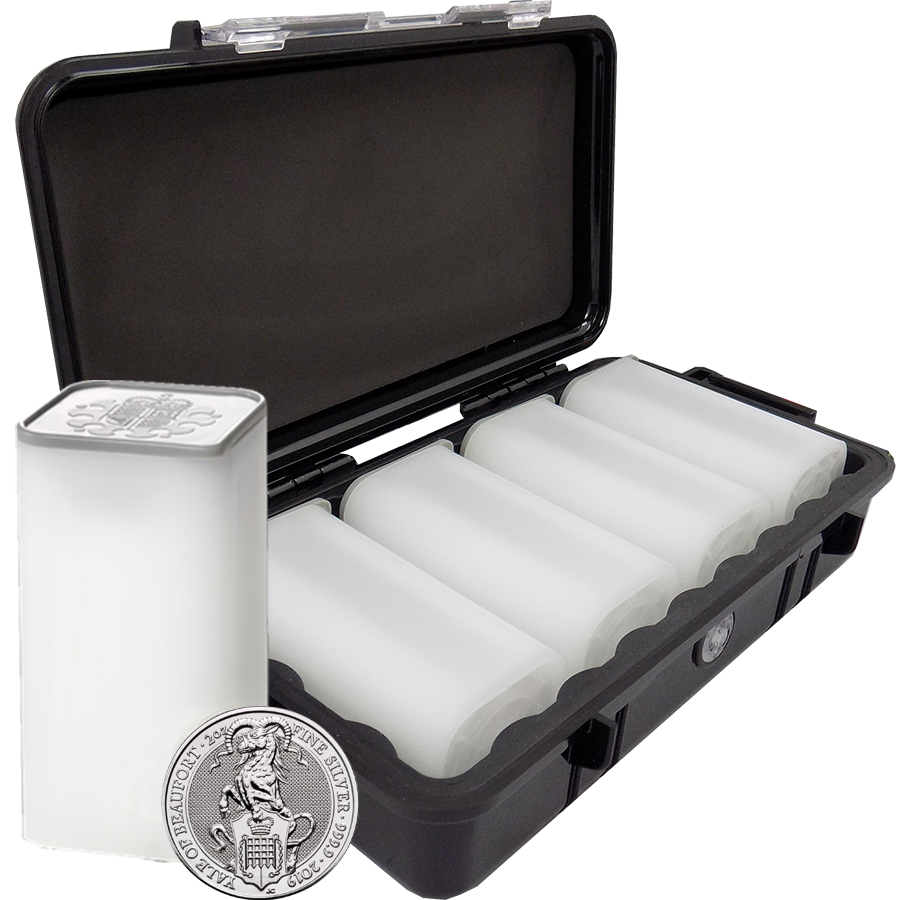 2019 UK Queen's Beasts The Yale of Beaufort 2oz Silver Coin - Mini Box of 40 Coins