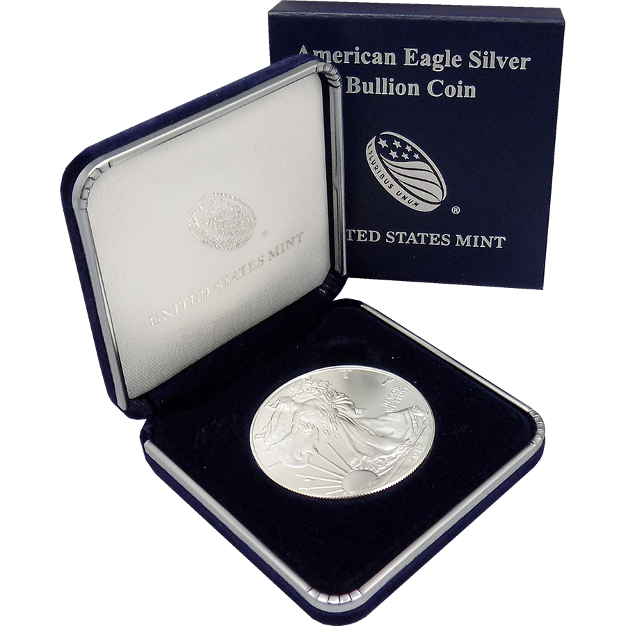 2019 USA Eagle 1oz Silver Coin in U.S Mint Box