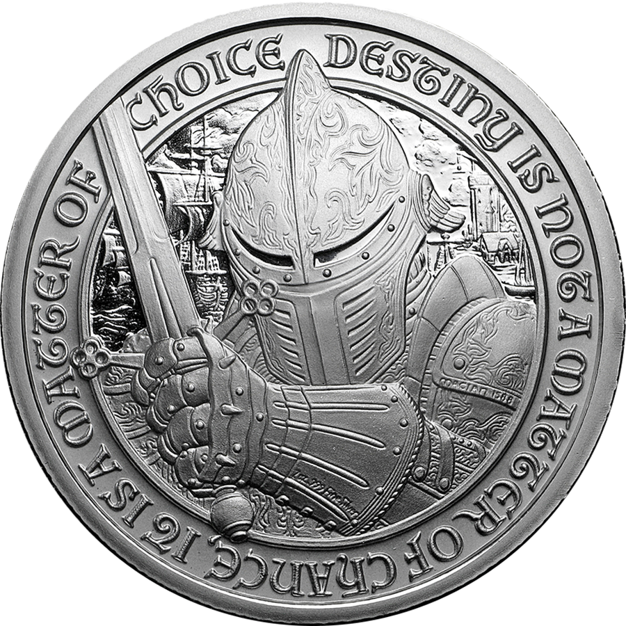 Destiny Knight 2oz Silver Round Collection - 5 Coins (Image 2)