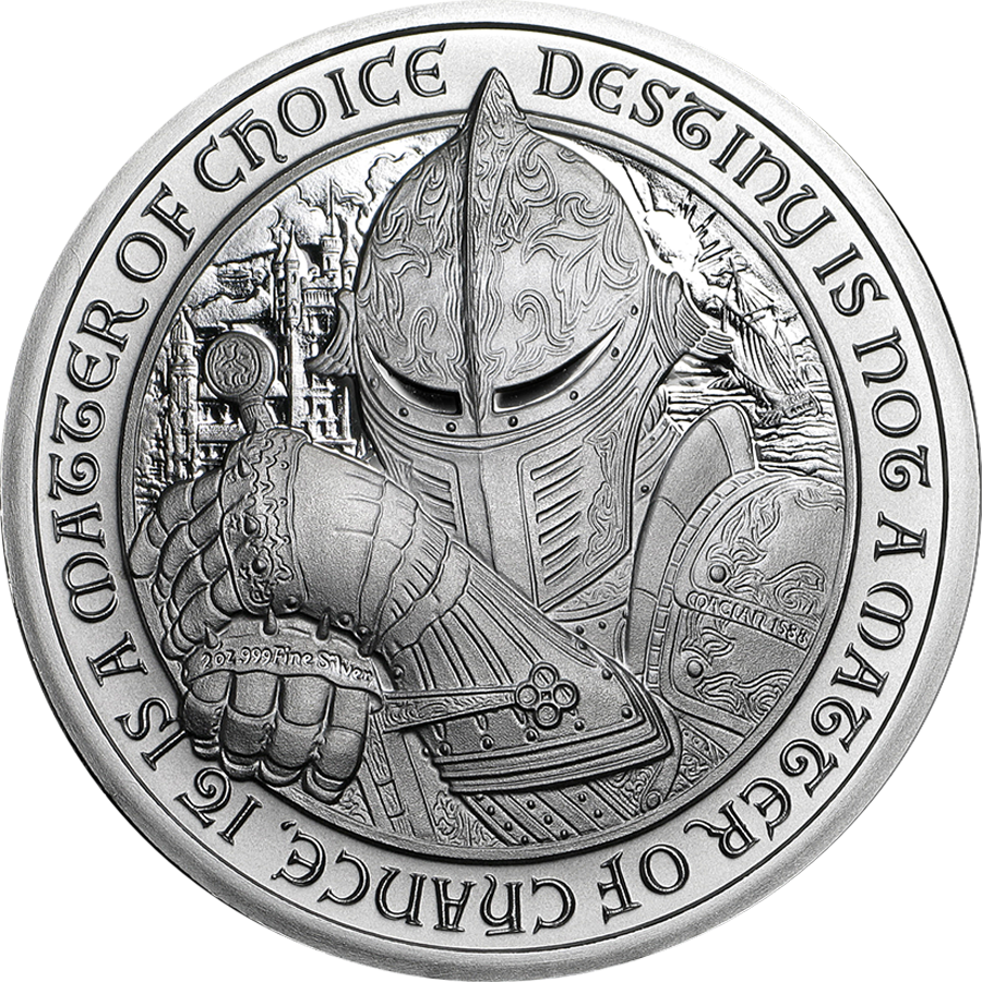 Destiny Knight 2oz Silver Round Collection - 5 Coins (Image 3)